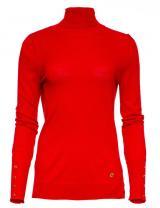 Trussardi Jeans dámský rolák 56M00238-0F000414 S červená