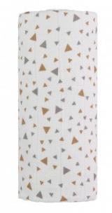 Velká bavlněná TETRA osuška, beige triangles / béžové trojúhelníky,Velká bavlněná TETRA osuška, beige triangles / béžové trojúhelníky