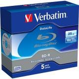 VERBATIM BD-R SL DataLife 25GB, 6x, jewel case 5 ks