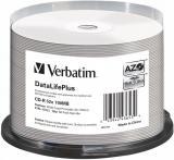 Verbatim CD-R DataLifePlus 700MB, 52x, silver printable, spindle 50 ks