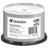 VERBATIM CD-R DataLifePlus 700MB, 52x, silver thermal printable, spindle 50 ks