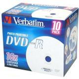 Verbatim DVD-R 16x, Printable 10ks v krabičce