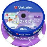 VERBATIM DVD R DL AZO 8.5GB, 8x, printable, spindle 25 ks