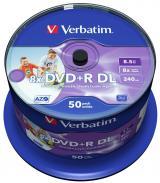 Verbatim DVD R DL DataLifePlus 8,5GB, 8×, printable, spindle 50 ks
