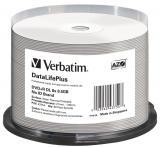 Verbatim DVD R DL DataLifePlus 8,5GB, 8x, thermal printable, spindle 50 ks