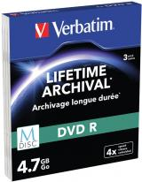 Verbatim M-DISC DVD-R 4,7GB, 4x, printable, slim case 3 ks