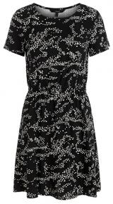 Vero Moda Dámské šaty VMAUTUMN AMAZE S/S SHORT DRESS WVN LCS Black M