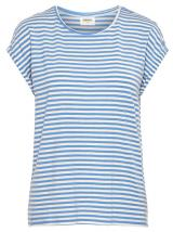 Vero Moda Dámské triko Ava Plain Ss Top Stripe Ga Color Granada Sky XS