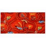 Vopi koberce Kusový koberec The World of Cars 10,   133x165 Červená - Vrácení do 1 roku ZDARMA