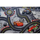 Vopi koberce Kusový koberec The World of Cars 97 šedý,   133x133 čtverec Šedá - Vrácení do 1 roku ZDARMA