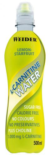 Weider L-Carnitine Water, 500 ml, Lemon-starfruit,Weider L-Carnitine Water, 500 ml, Lemon-starfruit