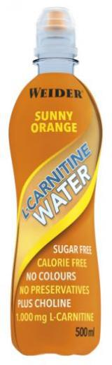 Weider L-Carnitine Water, 500 ml, Sunny-Orange,Weider L-Carnitine Water, 500 ml, Sunny-Orange