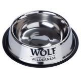 Wolf of Wilderness protiskluzová miska z nerezové oceli - Výhodná sada 2 x 850 ml, Ø 23 cm