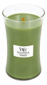 WoodWick Vonná svíčka váza Evergreen 609 g