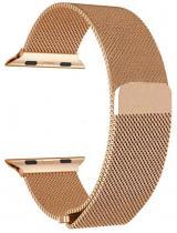 Wotchi Ocelový milánský tah pro Apple Watch - Růžové zlato 42/44 mm