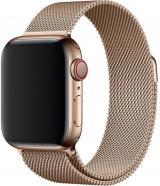 Wotchi Ocelový milánský tah pro Apple Watch - Zlatý 42/44 mm