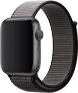 Wotchi Provlékací sportovní řemínek pro Apple Watch - Černá/Šedá 42/44 mm