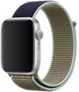 Wotchi Provlékací sportovní řemínek pro Apple Watch - Khaki 42/44 mm