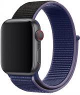 Wotchi Provlékací sportovní řemínek pro Apple Watch - Modrá/Černá 42/44 mm