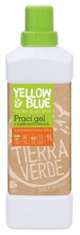 Yellow and Blue Prací gel s pomerančem z bio mýdlových ořechů 1l