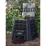 Zahradní kompostér 400l černý Dekorhome