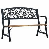 Zahradní lavička 120 cm přírodní / černá