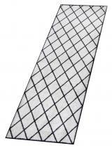 Zala Living - Hanse Home koberce Protiskluzový běhoun Home Black 103169 - 50x150 cm Bílá