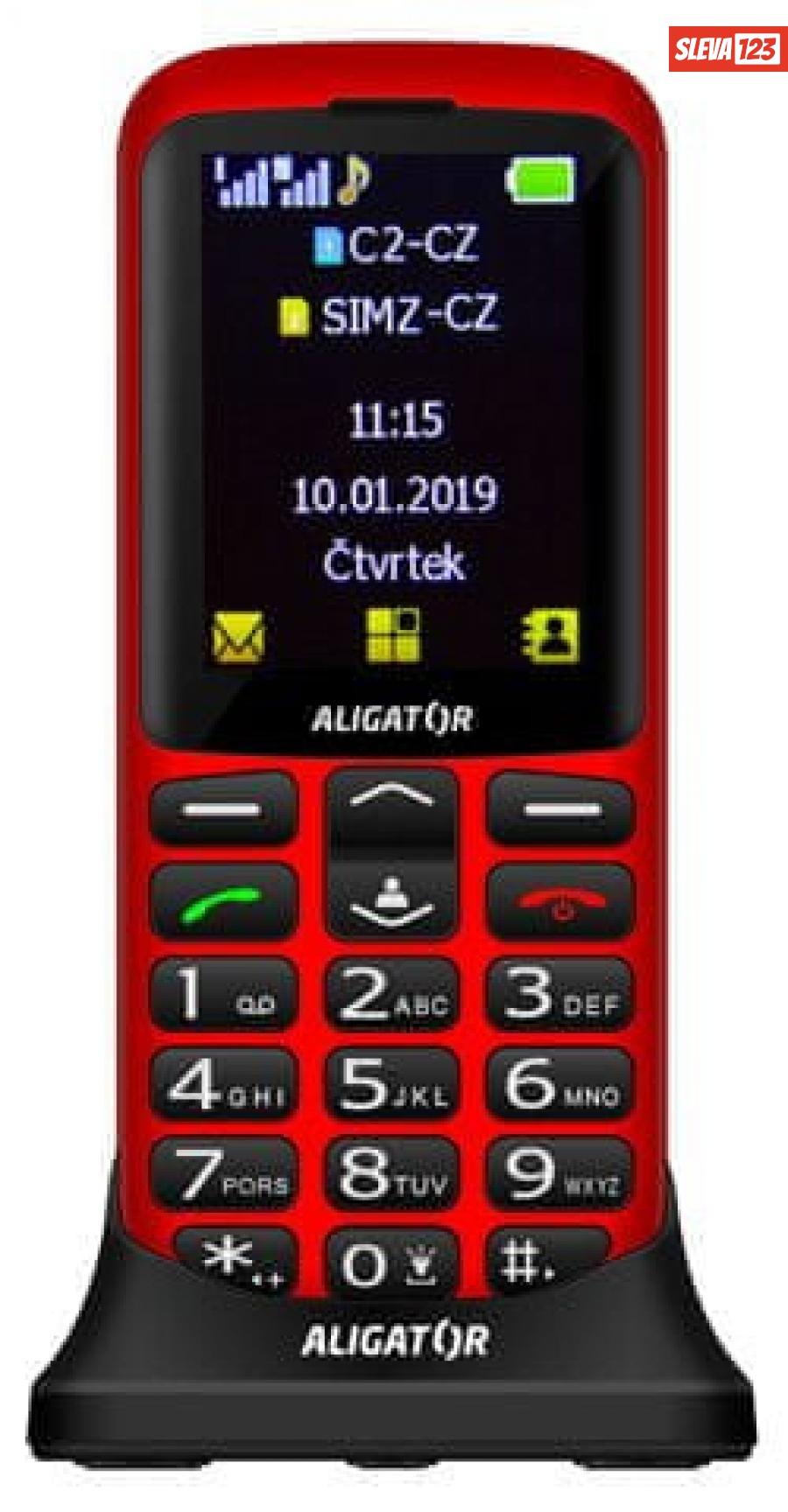 Aligator A700 Senior červený   stol. nab. - zánovní