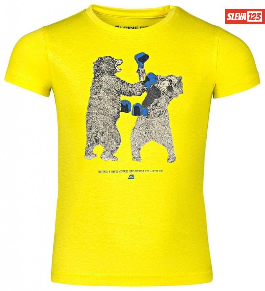ALPINE PRO Chlapecké tričko 116-122 žlutá