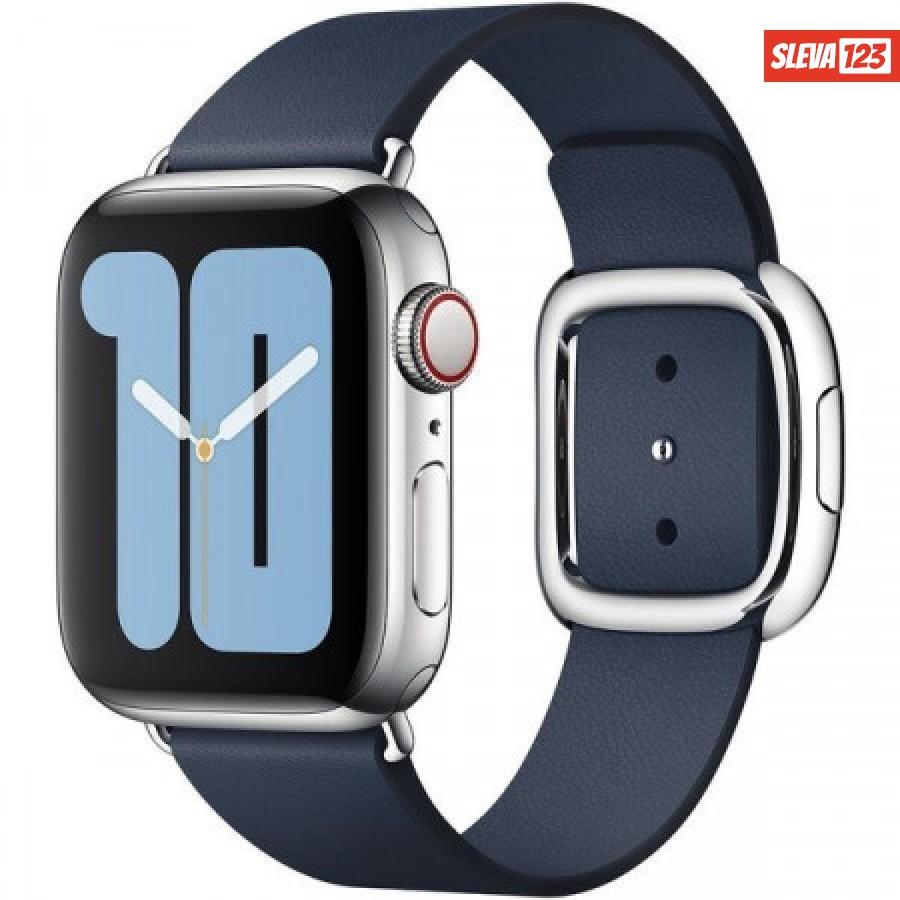 Apple Watch kožený řemínek s moderní přezkou 40/38mm vel. S hlubinně modrá