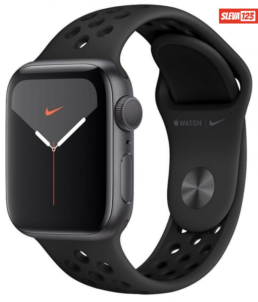 Apple Watch Nike Series 5 GPS, 40mm Space Grey Aluminium Case with Anthracite/Black Nike Sport Band  - zánovní