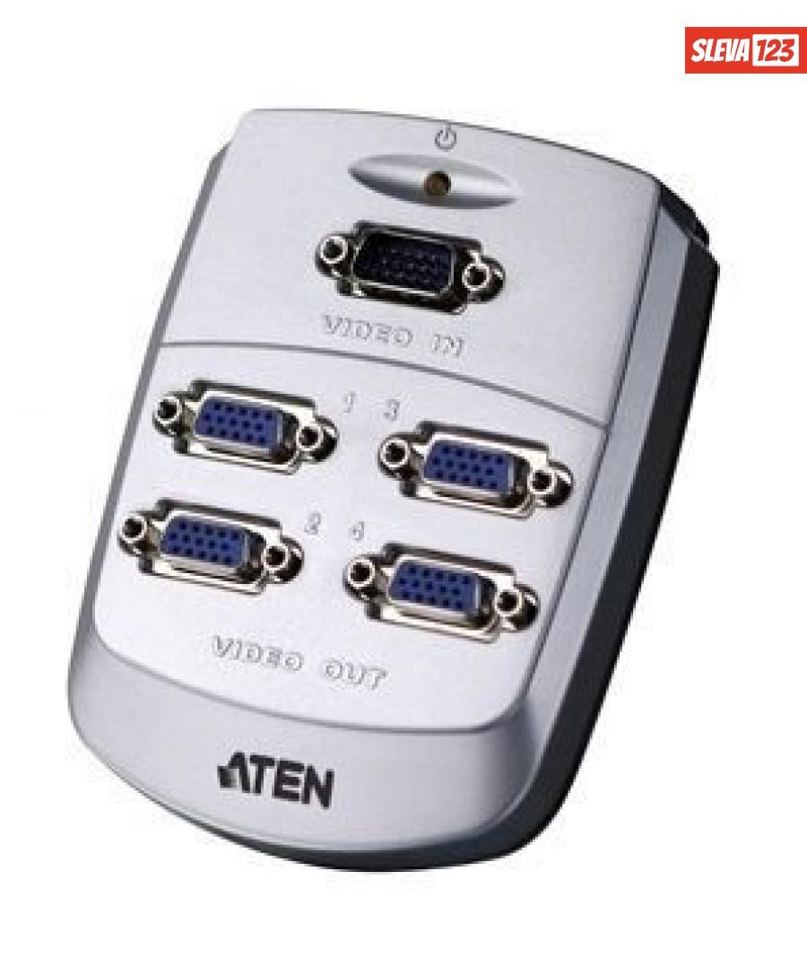 ATEN VS-84 4-portový VGA rozbočovač 250 MHz, VS84-AT-G