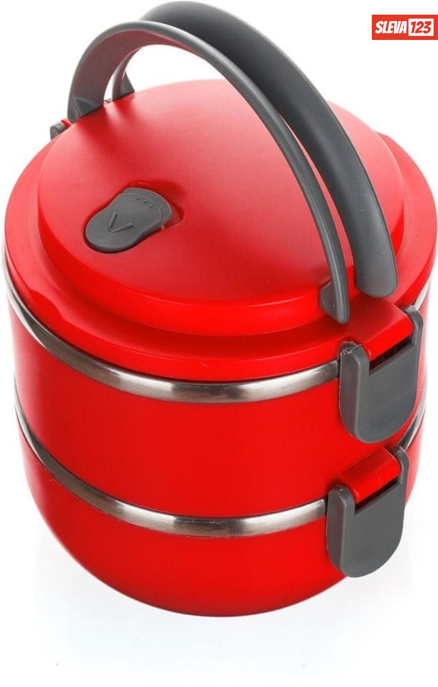 Banquet Jídlonosič plastový CULINARIA Red 1,4l, 2 díly - zánovní