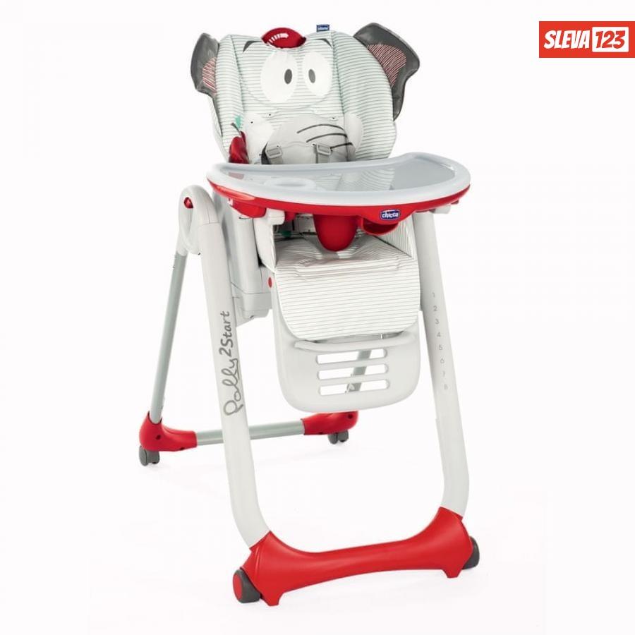 Chicco Židlička jídelní Polly 2 Start - Baby Elephant - rozbaleno