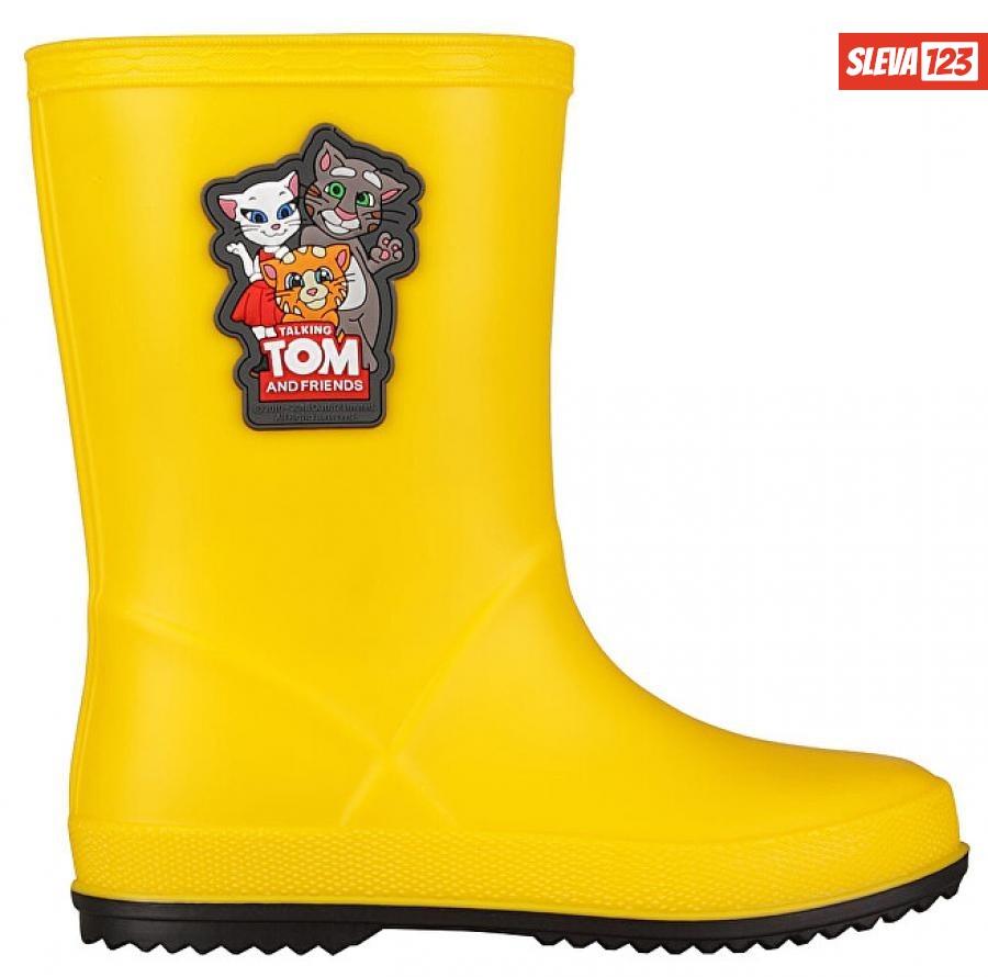 Coqui Dětské holínky TT&F Rainy Yellow/Antracit 8505-605-1224 29
