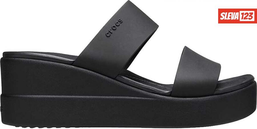 Crocs Dámské pantofle Crocs Brooklyn Mid Wedge W Black/Black 206219-060 41-42