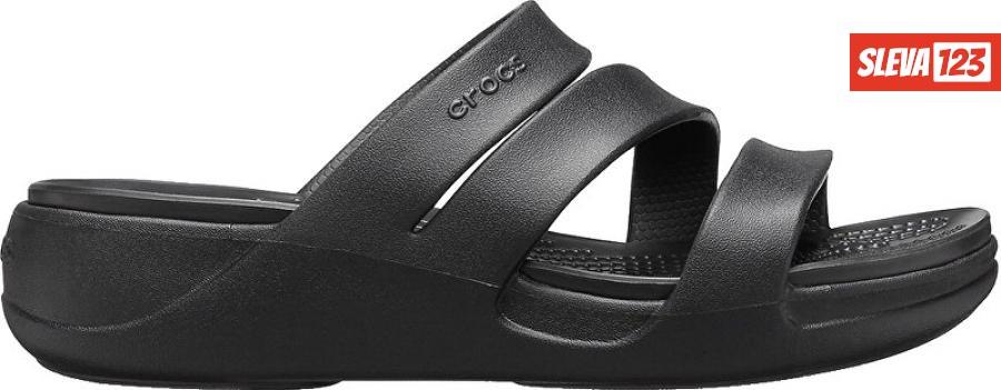 Crocs Dámské pantofle Crocs Monterey Wedge W Black 206304-001 41-42