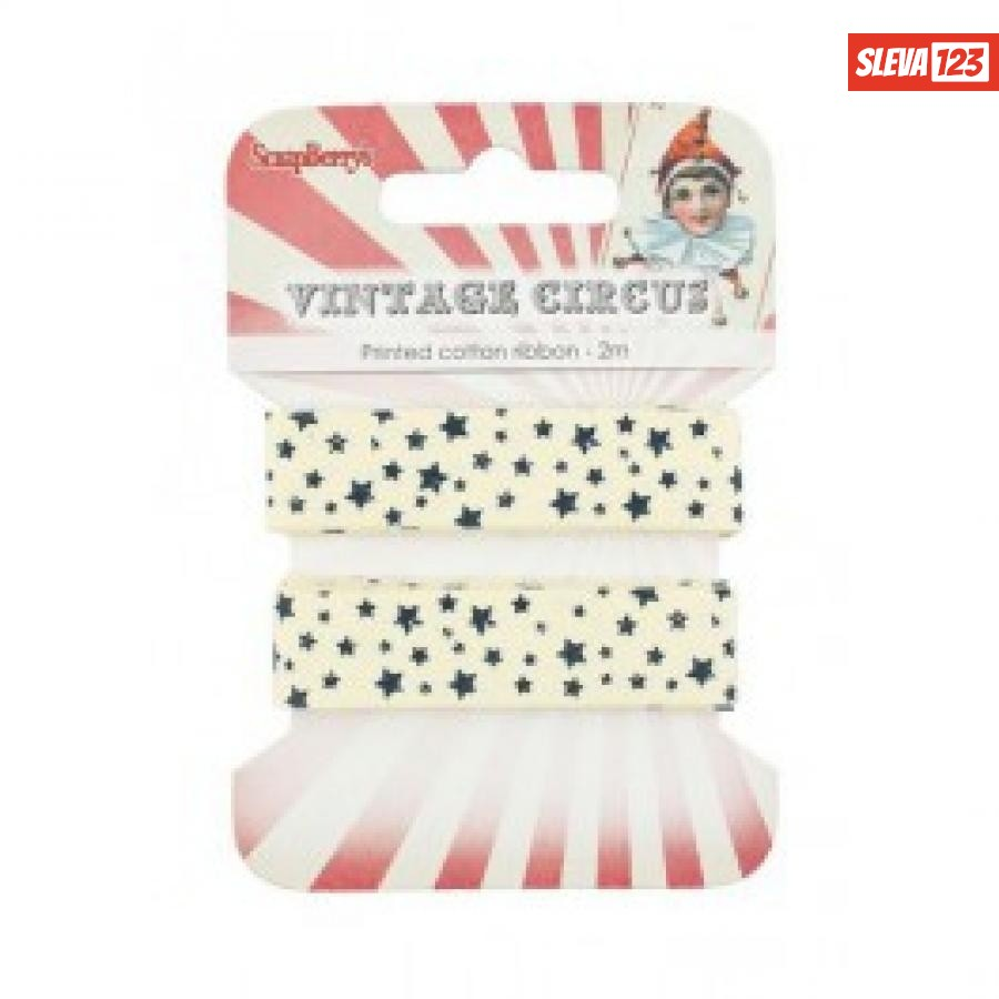 Dekorační stuha - Vintage Circus 15mm  92417