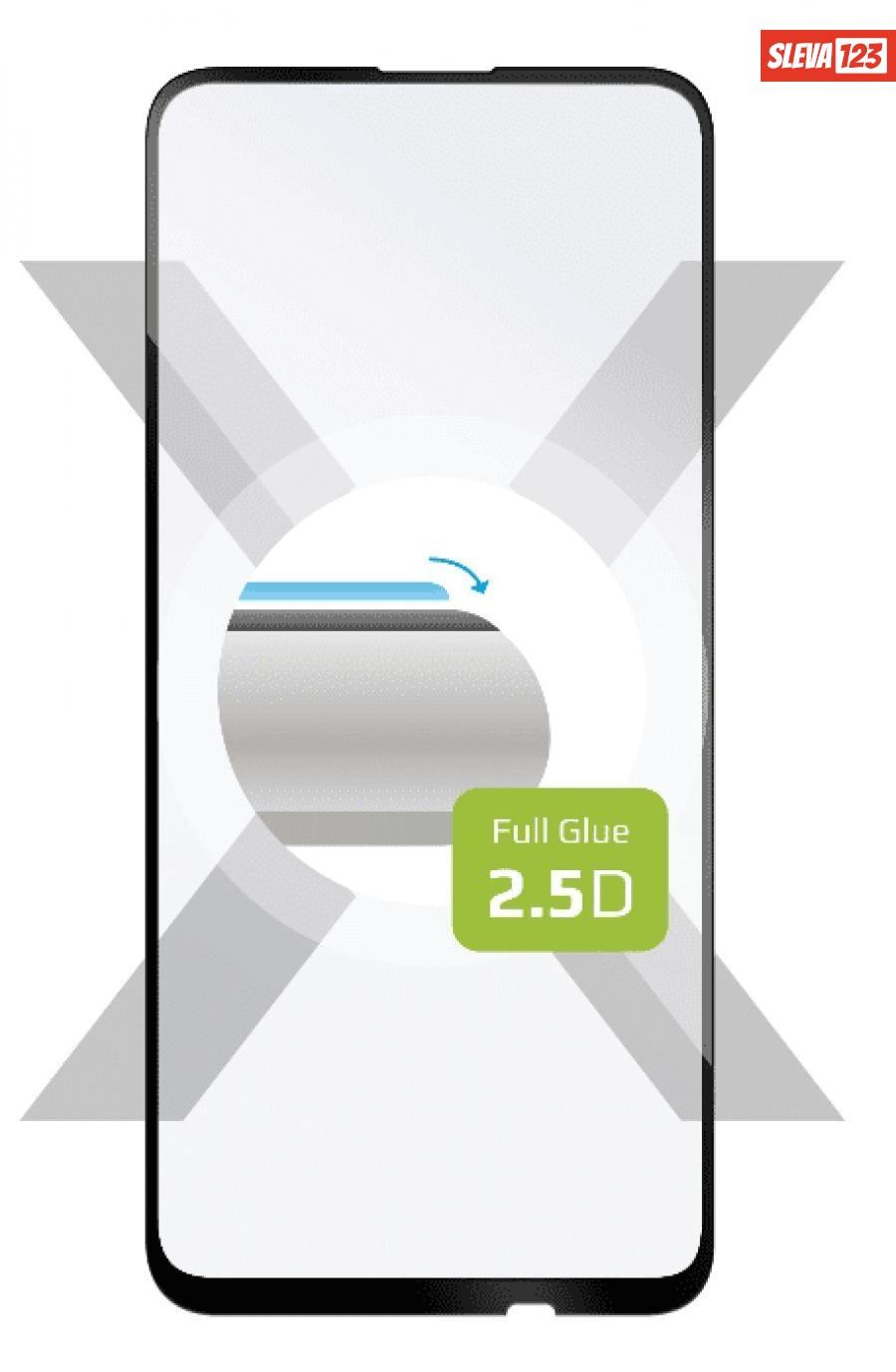 Fixed Ochranné tvrzené sklo Full-Cover pro Huawei P40 Lite, lepení přes celý displej, černé FIXGFA-509-BK - rozbaleno