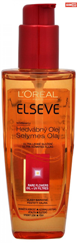 Loreal Paris Hedvábný olej pro barvené vlasy Rare Flowers Oil   UV Filtres 100 ml