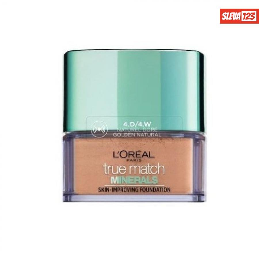 Loreal Paris Lehký minerální pudrový make-up True Match  10 g 4D/4W Golden Natural