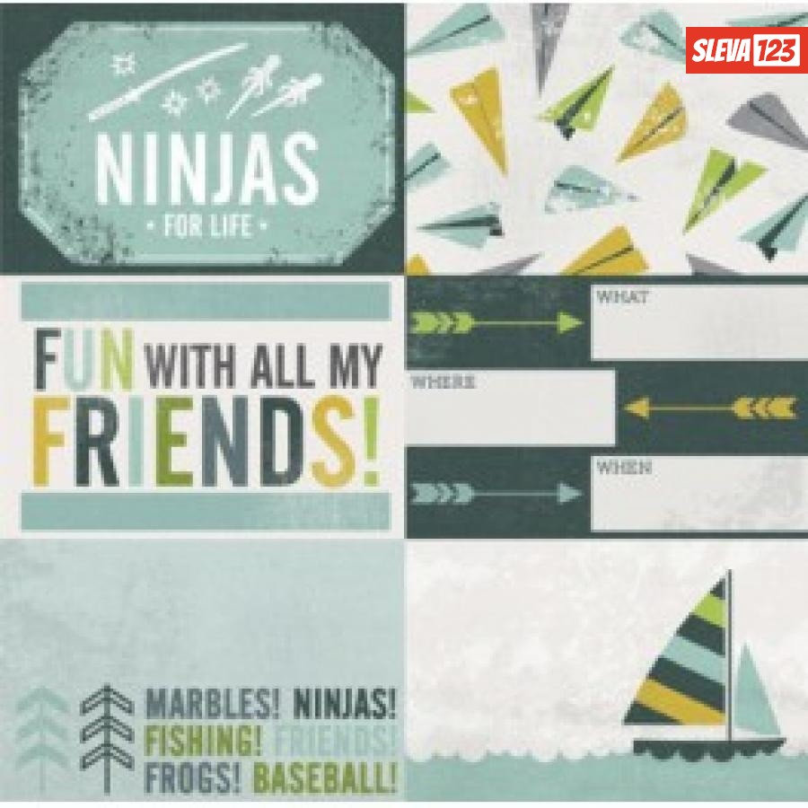 Papír 30,5x30,5 - Boys Rule - Ninjas  90213