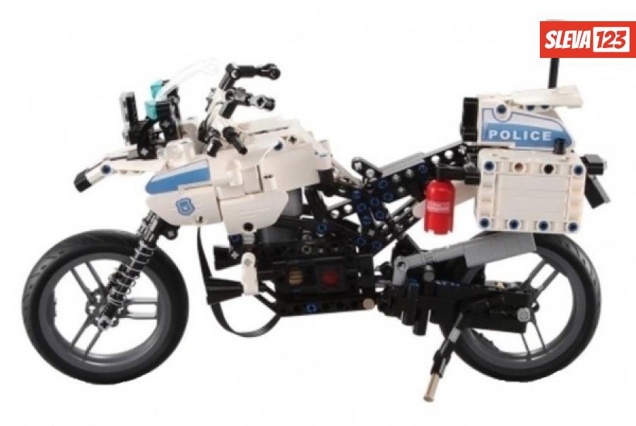 Policejní motorka - stavebnice - 539 dílků