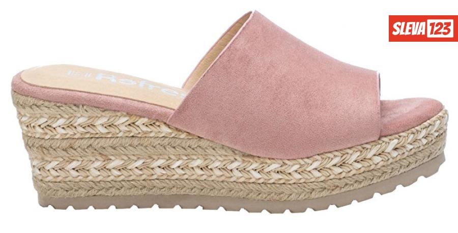 Refresh Dámské pantofle Nude Microfiber Ladies Sandals 72256 Nude 40