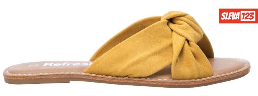 Refresh Dámské pantofle Yellow Microfiber Ladies Sandals 69687 Yellow 36