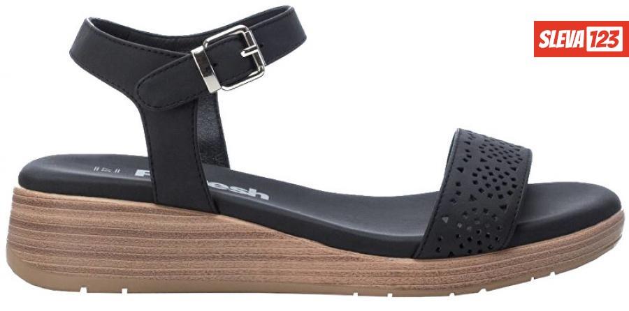 Refresh Dámské sandále Black Nobuk Pu Ladies Sandals 72208 Black 40