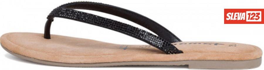Tamaris Dámské pantofle 1-1-27124-24-047 Black Glam - Velikost 37