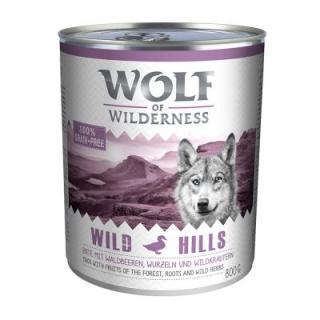 16   2 zdarma! 18 x 800 g Wolf of Wilderness - Wild Hills - kachní