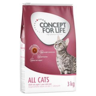 5   1 kg zdarma! 2 x 3 kg Concept for Life granule za skvělou cenu! - Indoor Cats