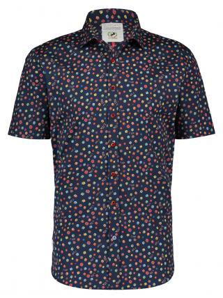 A Fish Named Fred pánská košile 20.03.066 Modrá XXL